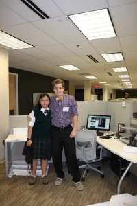 Civil Engineering intern, Josh, with his little sister, Emiliy.